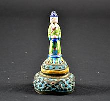 Chinese Enameled Bell Size : 4 3/4