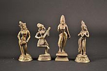 Grouping of 4 Indian Bronze Items 6 1/2