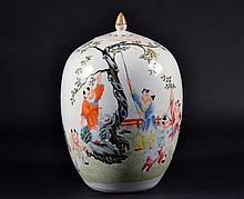 Chinese Republic Porcelain Jar with Lid Size : 12