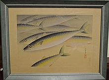 OHNO BAKUFU - Japanese Wood Block Size : Frame :