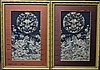 Pair of Chinese Embroideries in Frames Size : 36