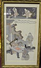 Chinese Kesi in Gilt Frame Size : 19