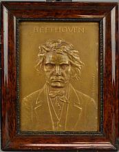 STEPHAN SCHWARTZ (Austrian, 1851-1924)BeethovenBronze plaqueMeasures 9 1/2
