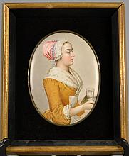 Antique Porcelain Plaque Inpressed KPM 8 3/4