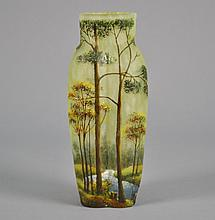 Lamartin Cameo Glass Vase Signed Lamartine