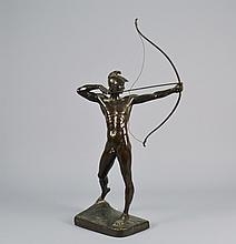 Bronze Sculpture Man w / Bow Signed E M GEYGER 24