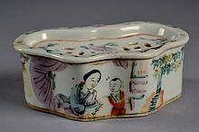 Chinese Republic Soap Dish 4 1/2