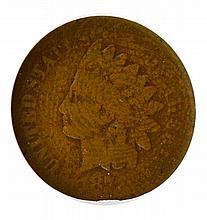 1877 Indian Head Cent ANACS Good Details AG 3 Net