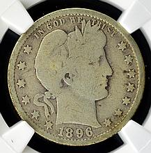 1896-O Barber Quarter Dollar NGC VG 6