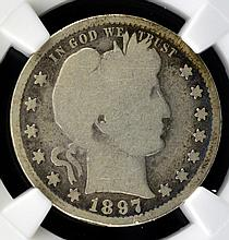 1897-S Barber Quarter Dollar NGC G 6