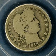 1913 S Barber Quarter Dollar PCGS G 04