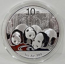 2013 China 10Y 1 oz. Silver Panda BU