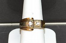 Man's 14k 2tone Vintage Diamond Ring