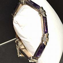 Sterling Amethyst Bracelet Antonio Pineda