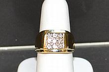 Man's 14kyg Diamond Fashion Ring