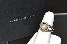 Pearl & Diamond Ring David Yurman