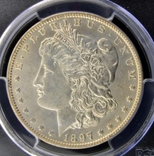 1897 O Morgan Silver Dollar PCGS MS 61