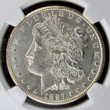 1897 S Morgan Silver Dollar NGC MS 62