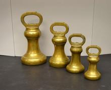 4 Solid Brass Avoir Butcher's weights