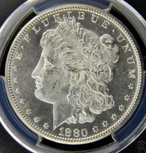 1880 S Morgan Silver Dollar PCGS MS 64