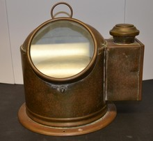Compact copper ships Binnacle with compass