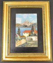 Italian mosaic art framed from Florence Italy