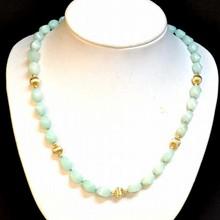 Green Jade Necklace & Earrings