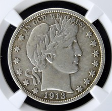 1913 Barber Half Dollar NGC VF 35