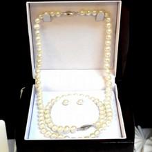 Freshwater Pearl Set: Necklace, Bracelet & Earring
