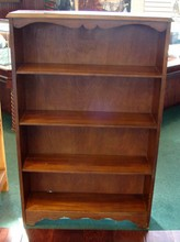 Vintage Wood Bookcase - 48