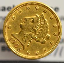 1905 $2.5 Liberty Head Gold Quarter Eagle XF