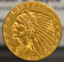 1928 $2.5 Indian Head Gold Quarter Eagle XF
