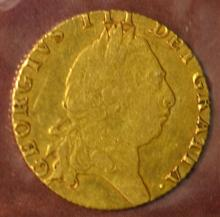 1761-1813 King George III Gold Coin F-VF