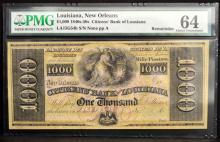 1840-50 $1000 Citizens Bank LA N Orleans PMG CU 64