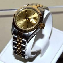 Lady's 18kyg & Stainless Rolex Datejust Watch