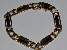 Man's 14kyg Black Onyx Bracelet