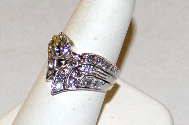 Vintage 14kwg Diamond Ring .75ct