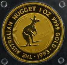 1993 Australia $100 Gold Nugget 1 oz. BU Coin