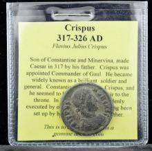 317-326 AD Crispus Emperor Ancient Coin