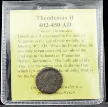 402-450 AD Theodosius II Emperor Ancient Coin