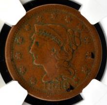 1849 Liberty Head Large Cent NGC VF Details E/D