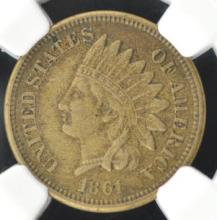 1861 Indian Head Cent NGC XF 40
