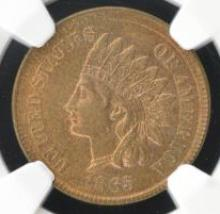 1865 Indian Head Cent NGC MS 63 RB CAC