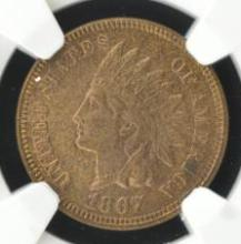 1867 Indian Head Cent NGC MS 63 BN