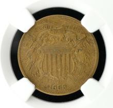 1865 Two Cent Piece NGC XF40 BN