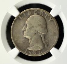 1932-S Washington Quarter NGC F 12