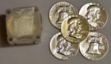 1963 Franklin Half Dollar 20 Piece Proof Roll