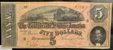 1864 $5 Confederate States America Richmond, VA XF