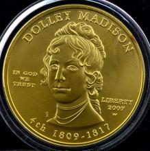 2007-W $10 1st Spouse Gold UNC Coin + Boxes & COA