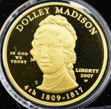 2007-W $10 1st Spouse Gold PF Coin + Boxes & COA